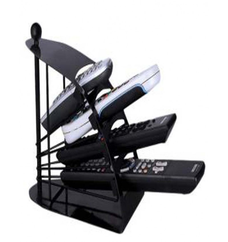 Metallic Body 4 Compartments  Remote Stand(Black)