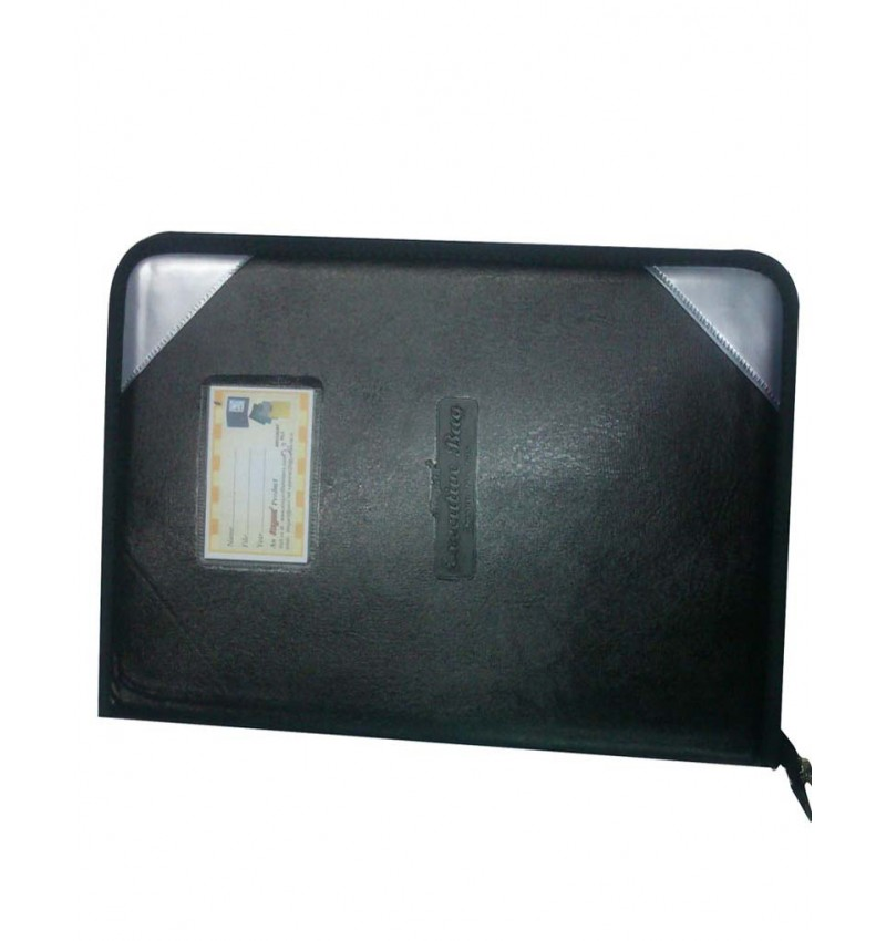 WI-Elegant Document File Black Bag With 20 Pockects