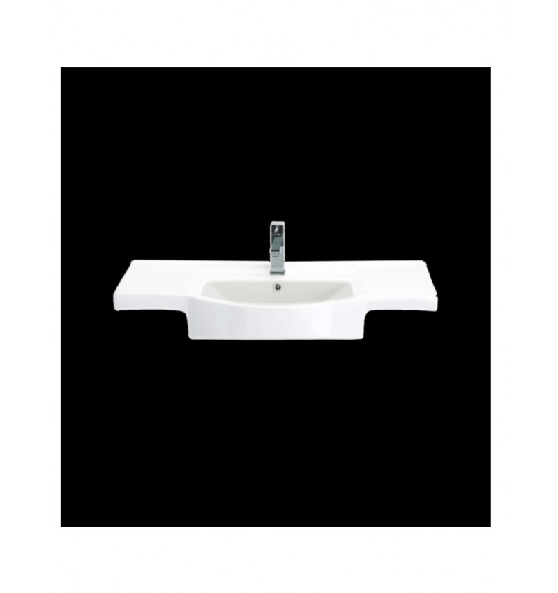 Cera Cliff White Ceramic Wash Basin