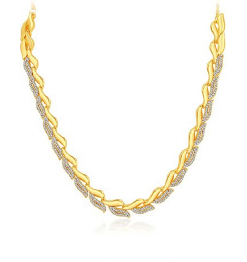 WI-Earring & Necklace Alloy Jewel Set(Gold)