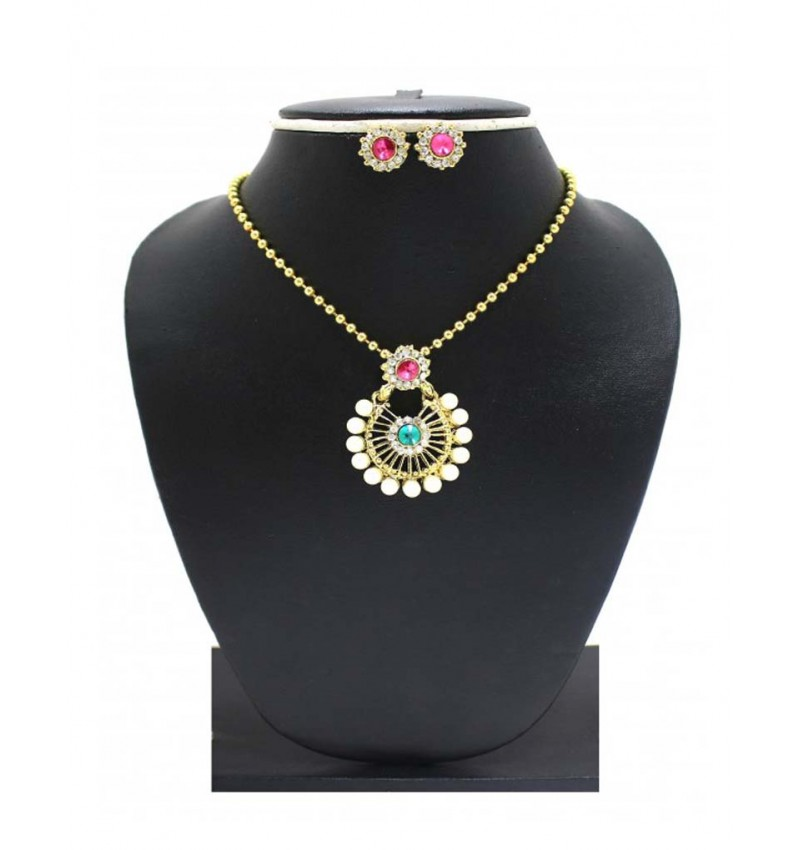 Diva Stylish Alloy meterial Pendant with earring