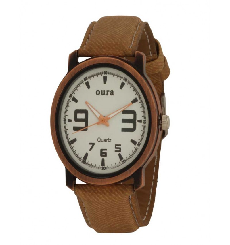 White Dial Analog Casual Wear Watch For Men