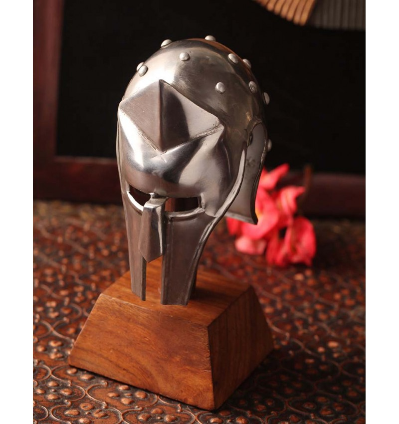 Metal Table Medieval Gladiator Helmet Collectible