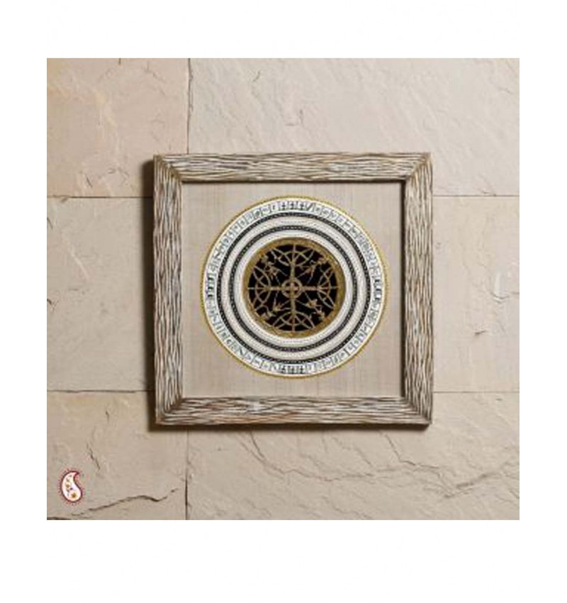 WI- An Appealing antique look wood frame with Dhokra Work
