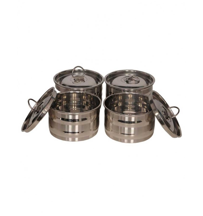 WI-Stainless Steel 4 Piece Storage Containers