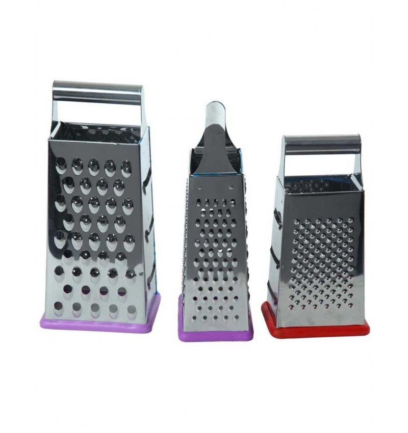 WI-Stainless Steel Graters - Set Of 3