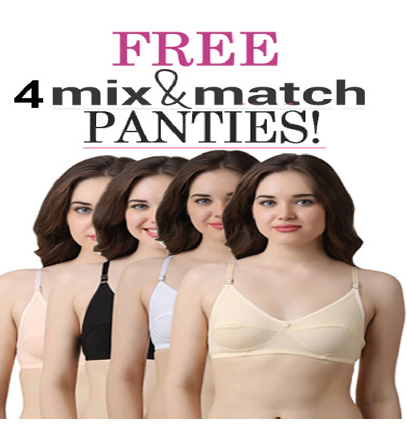 4Comfy Everyday Bra Free Mix N Match Panties