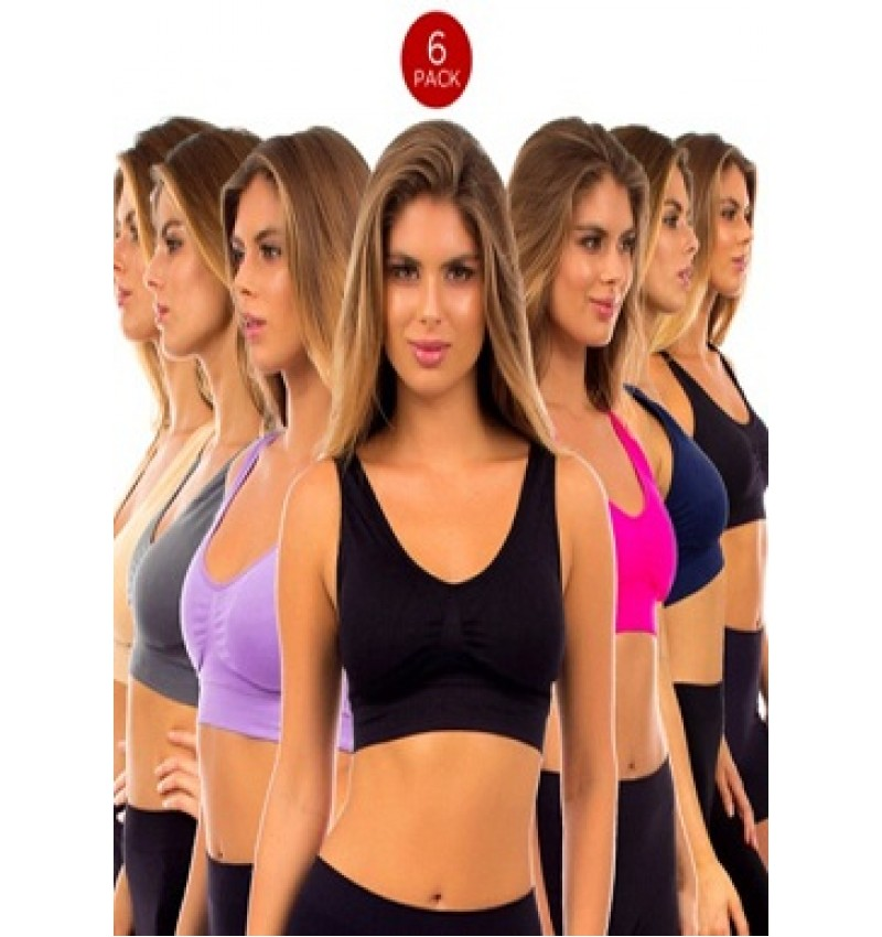 6 Sports Non Padded Bra Pack