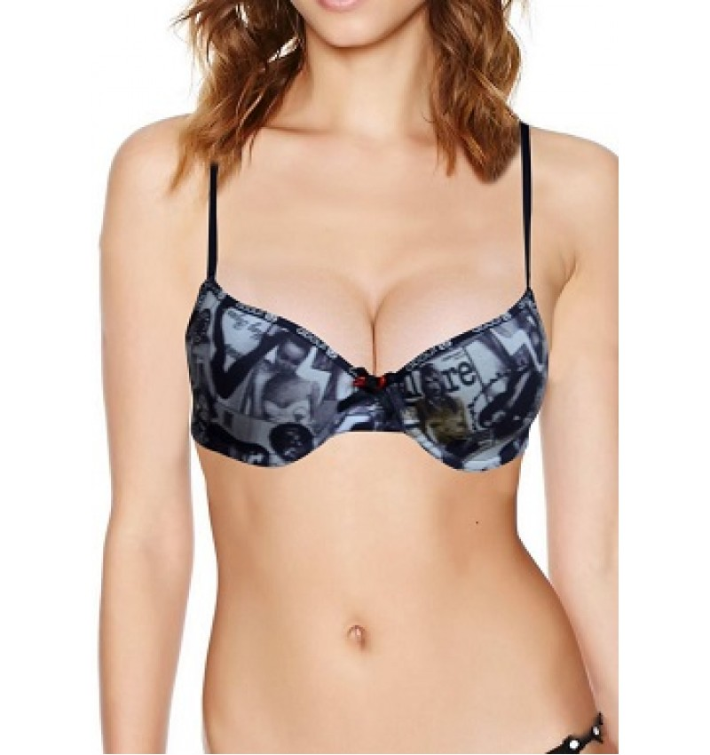 About U Cool Print Everyday Underwired Padded Bra
